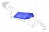 4104001.1 Cargo Floor Plank End Cap 112mm Plastic Blue (Single)
