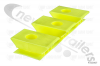 4103007 Cargo Floor Plastic Bearing Block Yellow, 3/97 Height 32mm Flat