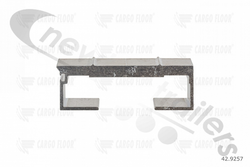 42.9257 Cargo Floor Plank 10mm x 97mm Ridged Single Seal No Seal or End Cap 13300mm Pre 2001