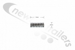 5057001 Cargo Floor CF300 & 500 Spring for Threaded Rod